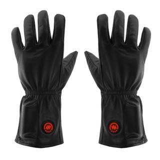 Kožené vyhrievané lyžiarske a moto rukavice Glovii GIB čierna - L-XL