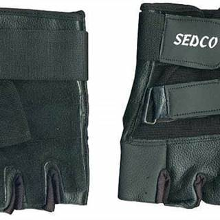 Rukavice fitnes SEDCO kůže - S