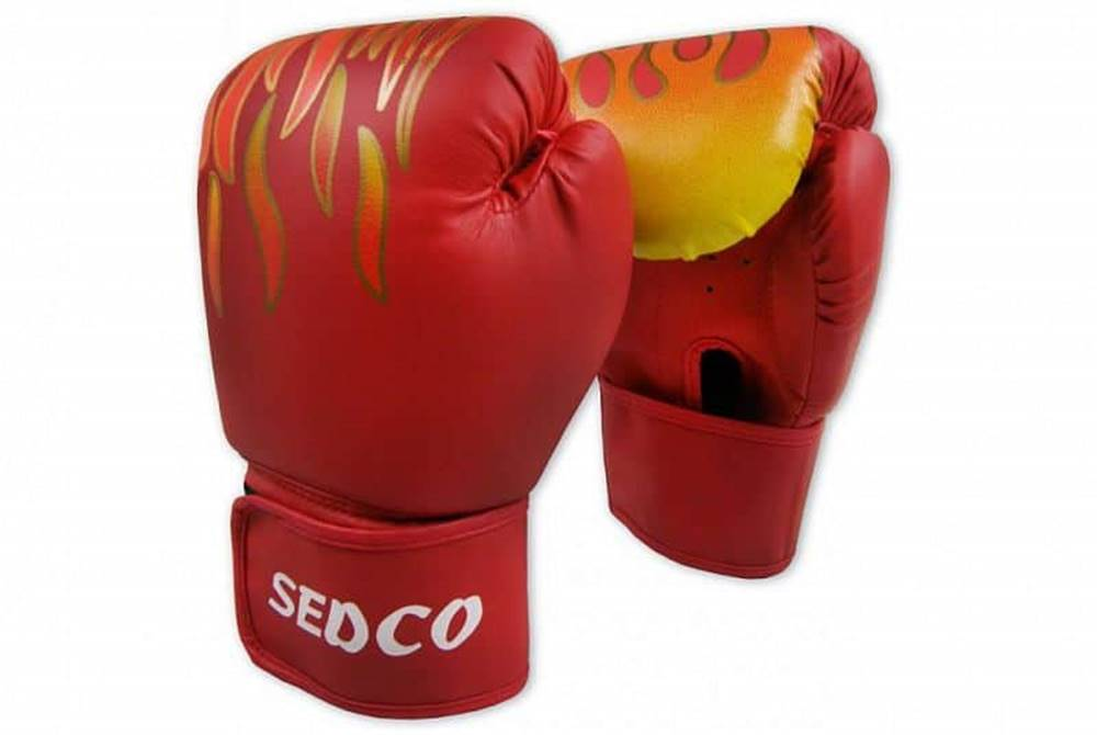 Sedco Box rukavice SEDCO TRAINING FIRE 14 OZ - Červené