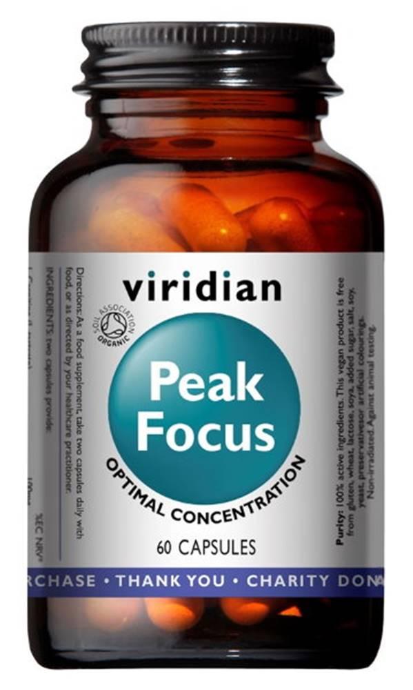 Viridian Viridian Peak Focus Organic (Normálne kognitívne funkcie) 60 kapsúl