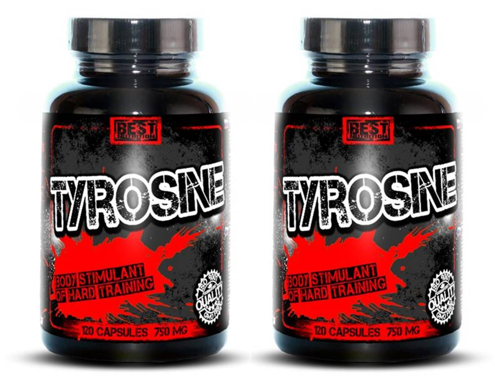 Best Nutrition 1+1 Zadarmo: Tyrosine od Best Nutrition 120 kaps. +  120 kaps.