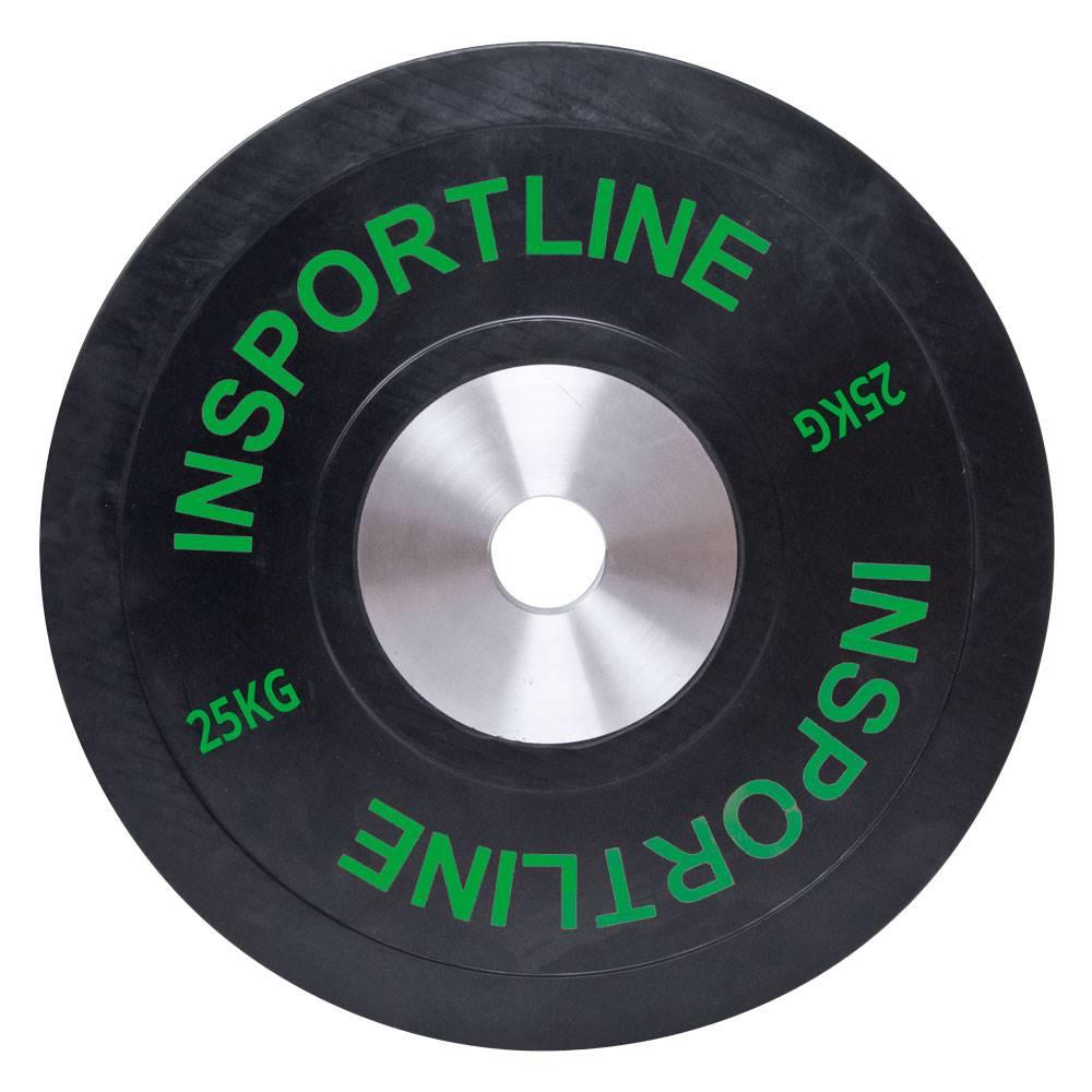 Insportline Gumový kotúč inSPORTline Bumper Plate 25 kg