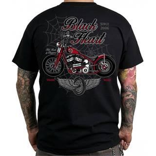 Tričko BLACK HEART Red Baron Chopper čierna - M