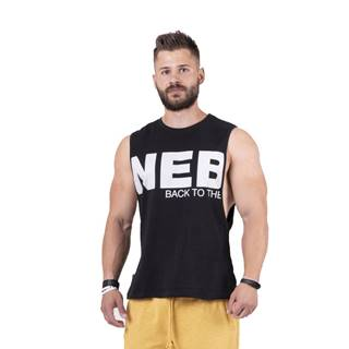 Pánske tielko Nebbia Back to the Hardcore tank top 144 Black - L