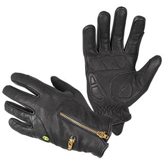 Dámske kožené moto rukavice W-TEC Perchta čierna - XS