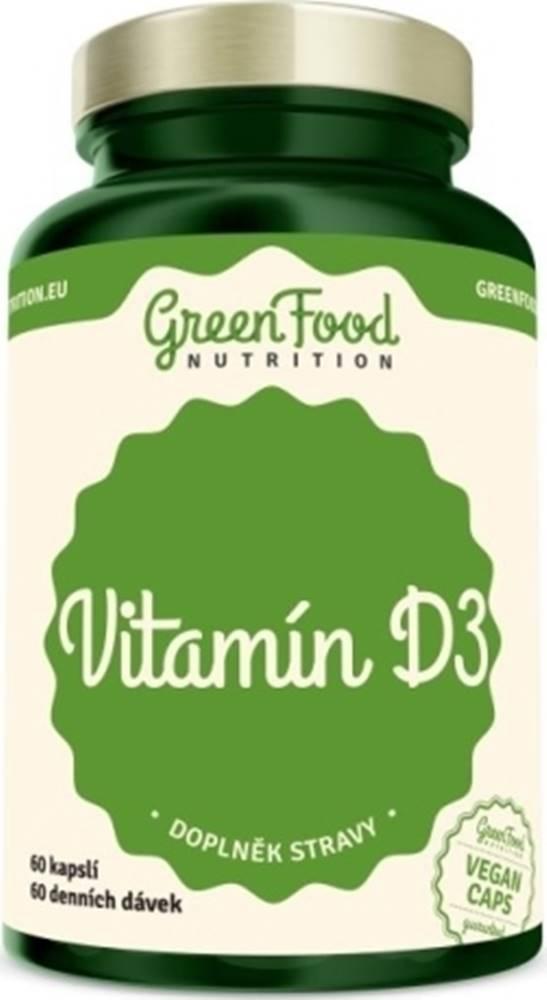 GreenFood GreenFood Vitamín D3 vegan 60 kapsúl