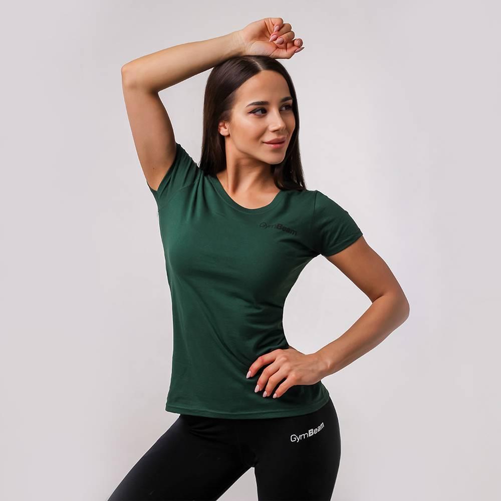 GymBeam Dámske tričko Basic Green - GymBeam  XS