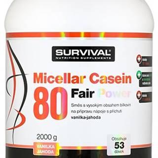Survival Micellar Casein 80 Fair Power 2000 g variant: jahoda - vanilka