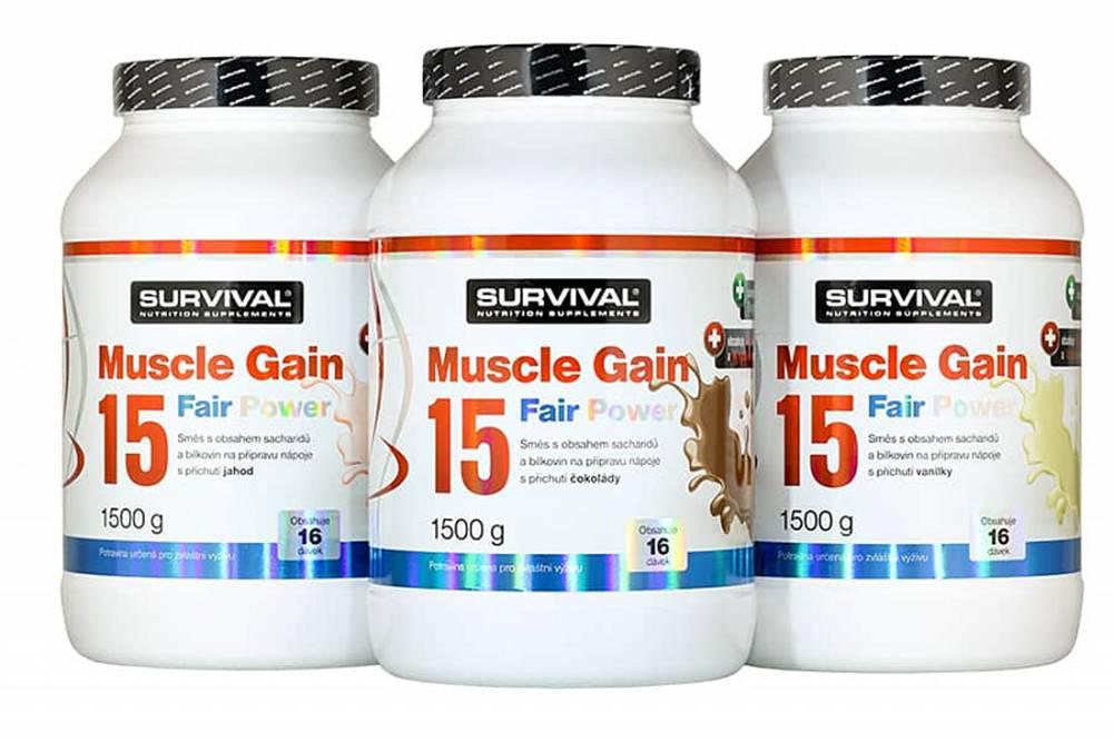 Survival Survival Muscle Gain 15 Fair Power 1500 g 1500g Čokoláda